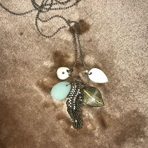 American Eagle Outfitters Feather Charm Necklace